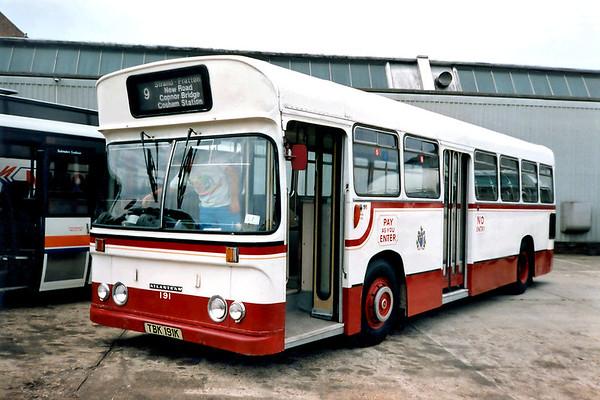 Portsmouth Corporation 191 TBK191K, Bournemouth 7/7/1991