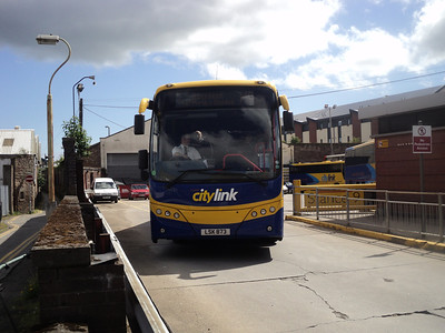 Parks of Hamilton Plaxton Panther on citylink/megabus route to Aberdeen seen leaving Dundee