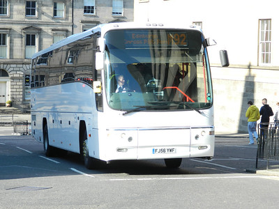 Edinburgh Coach Lines FJ56YWF ex Veolia Transport arrives at Edinburgh Bus Stn from Dundee on service M92