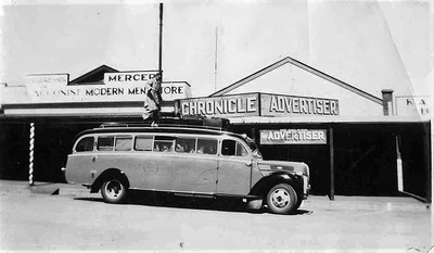 A 1940 C&B Bodied Ford V8 36 Seater. (Image from the Pendle Family Collection)