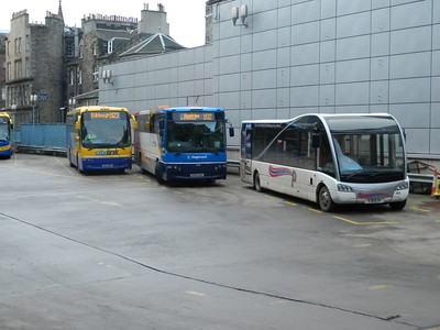 Layover area of Edinburgh Bus stn