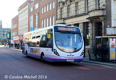 First 47434 (SK63KNF), Commercial Road, Portsmouth, 5th October 2016