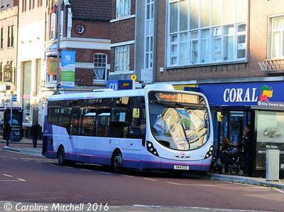 First 47586 (SN14ECD), Edinburgh Road, Portsmouth, 5th October 2016