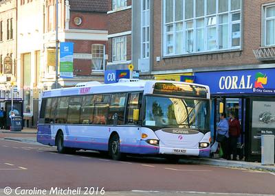 First 65008 (YN54NZD), Edinburgh Road, Portsmouth, 5th October 2016