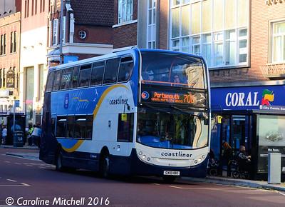 Stagecoach 15604 (GX10HBO), Edinburgh Road, Portsmouth, 5th October 2016