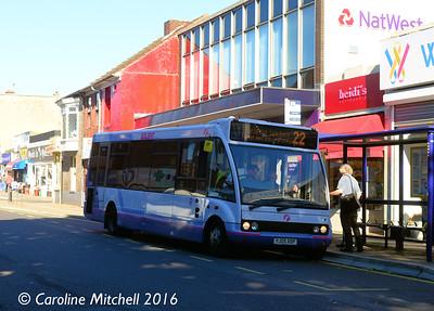 First 53140 (YJ05XOP), High Street, Cosham, 5th October 2016