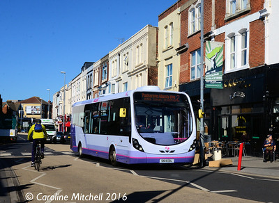 First 47576 (SN14EBL),  Albert Road, Southsea, 5th October 2016