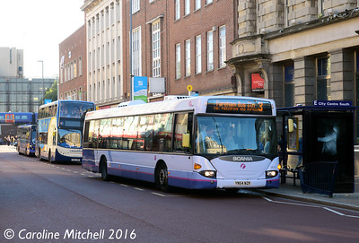 First 65018 (YN54NZR), Commercial Road, Portsmouth, 5th October 2016