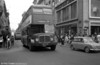 An all-British scene as an AEC Regent V overtakes a mini! But this is Lisbon City Centre with AEC Regent V 662 (CB-45-51). Have the crowds come out to see the Regent?