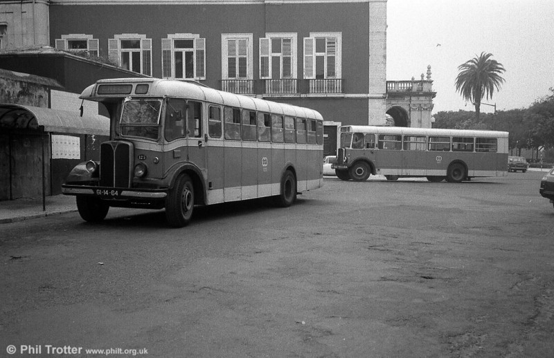 A contrast in Weymann and UTIC body styles on two of the 1948 AEC Regal IIIs.