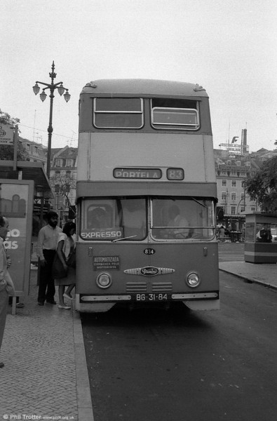 Another view of Daimler Fleetline CRG6 834 (BG-31-84).