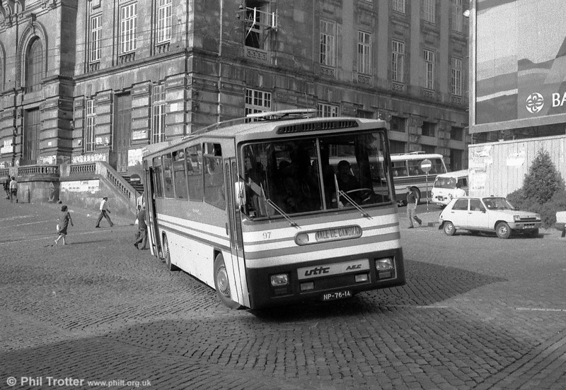Privately owned UTIC AEC 97 (NP-76-14) seen at Sao Bento, Oporto.