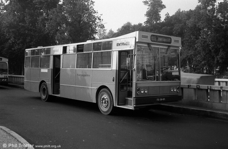 Lisbon area operator Barraqueiro ran this angular UTIC AEC FG-30-05. the company had a blue and white livery and was based at Mafra.