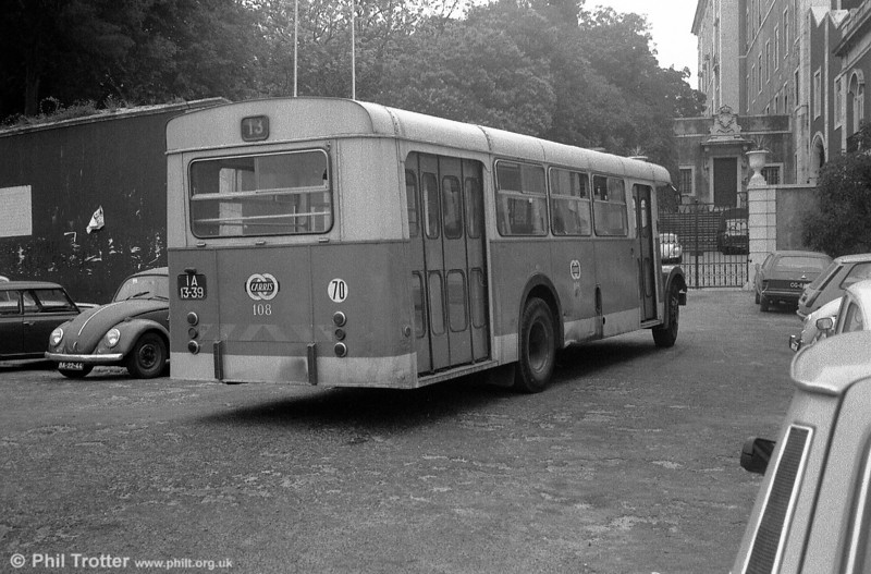 A rear view of 1948 AEC Regal III 108 (IA-13-39).