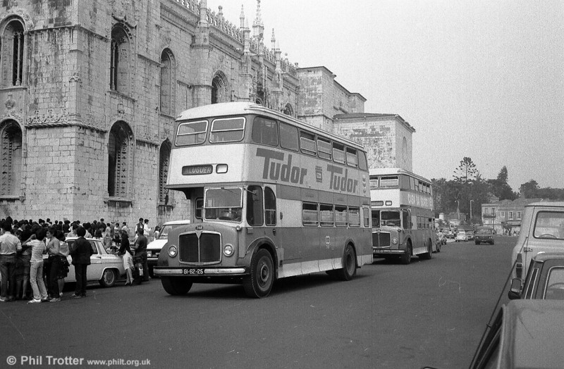 1966 AEC Regent V 708 (GI-62-25) on a private hire at the Hieronymites Monastery (Mosteiro dos Jerónimos).