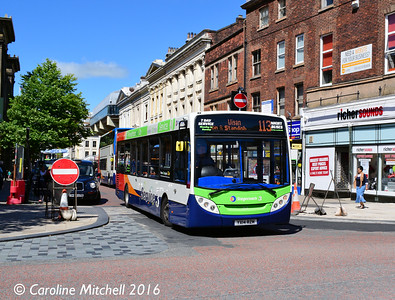 Stagecoach 37128 (YX14RZM), Lancaster Road, Preston, 27th July 2016