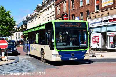 Preston Bus 33009 (BT11UWO), Lancaster Road, Preston, 27th July 2016