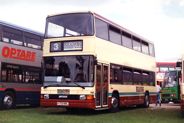 Reading Buses 703 K703BBL, Woburn Abbey 27/9/1992