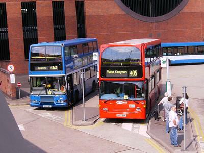 Metrobus 834 (R834MFR) & 951 (YN07EXM), Redhill, 11th August 2007