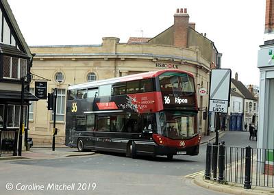 Harrogate Bus Company 3616 (BL65YYO), Westgate, Ripon, 1st April 2019