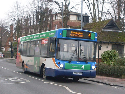 Stagecoach 31322 (P322JND), Rugby, 29th December 2009