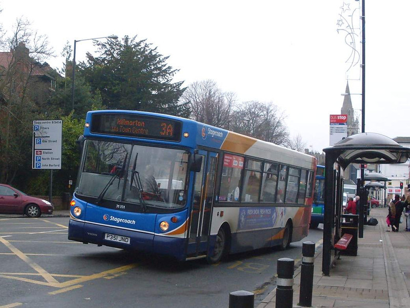 Stagecoach 31351 (P351JND), Rugby, 29th December 2009