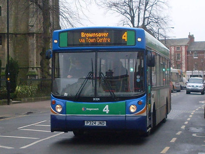 Stagecoach 31324 (P324JND), Rugby, 29th December 2009
