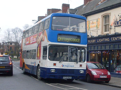 Stagecoach 14034 (F634MSP), Rugby, 29th December 2009