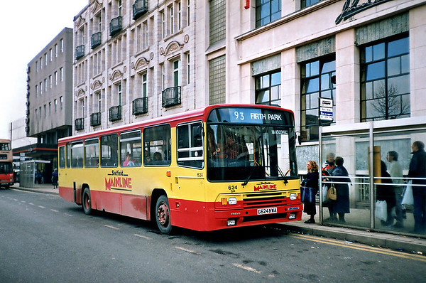 624 G624NWA, Sheffield 17/2/1991