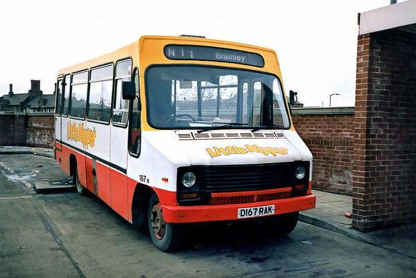 167 D167RAK, Rotherham 17/2/1991