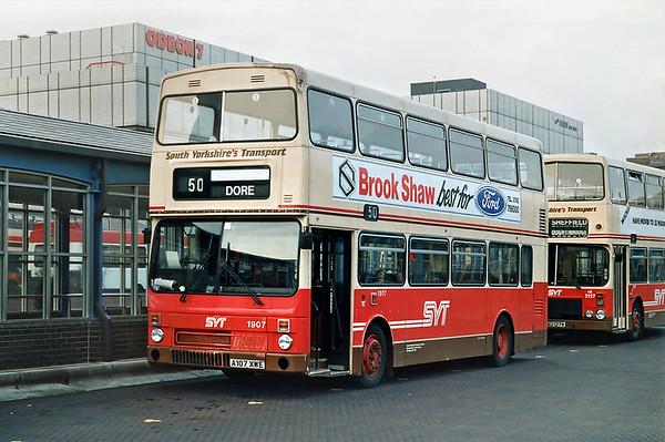 1907 A107XWE, Sheffield 29/2/1992