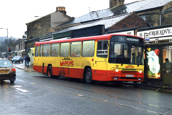 635 G635NWA, Broomhill 14/2/1992