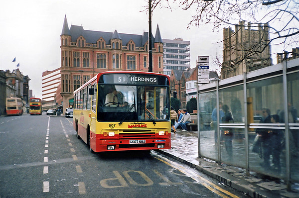607 G607NWA, Sheffield 17/2/1991
