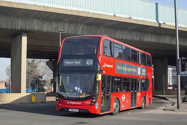 11030 YX68UKP, Canning Town 27/2/2019
