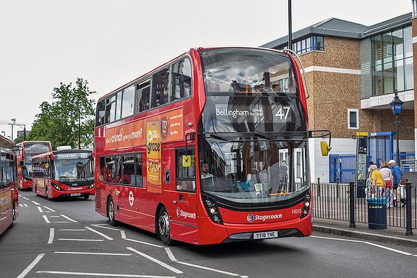 11015 YY18TNE, Lewisham 24/5/2019