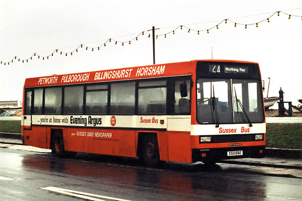 Sussex Bus XSU682, Worthing 24/1/1994