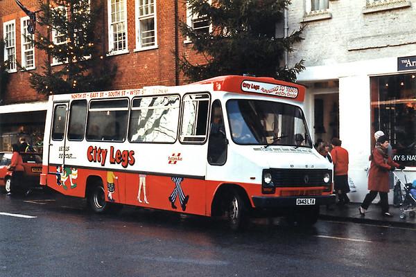 Sussex Bus D143LTA, Chichester 29/12/1993