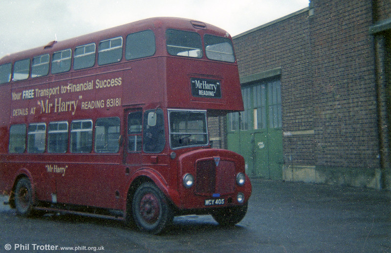 1955 AEC Regent V/Weymann H33/26R 44 (MCY 405 in later service with Smith, Reading.