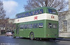Rear view of AEC Regent V/Willowbrook H39/32F 601 (434 HCY) in its commemorative livery.