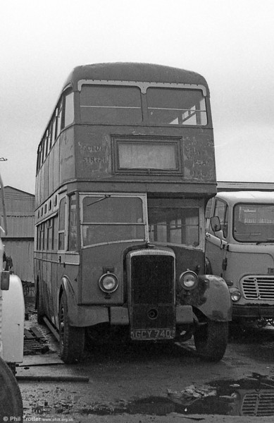 Former United Welsh 1233 (GCY 740), a 1950 Daimler CVD6/Bruce H30/26RD new to Swan Motor Services.