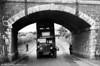 Close! 250 (ACY 49), a 1937 AEC Regent/Weymann H30/26R seen negotiating a low bridge near Llanelli.