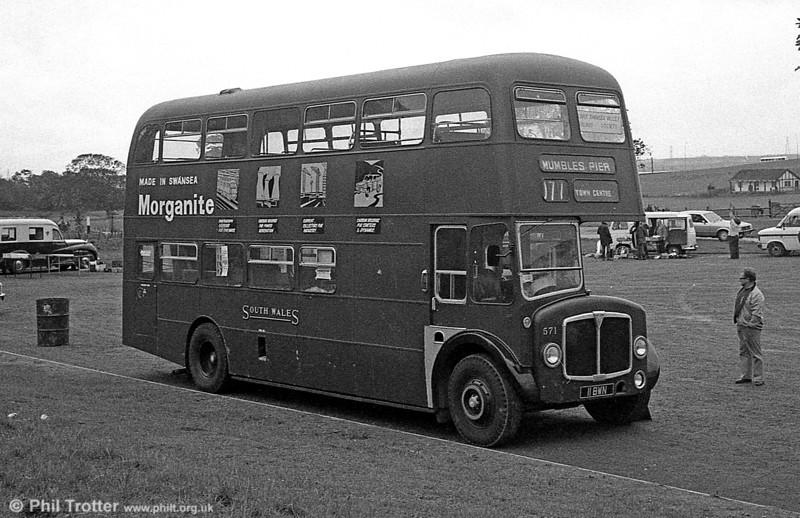 Restored 1962-built AEC Regent V/Willowbrook H39/32F 571 (11 BWN).
