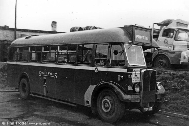 AEC Regall III/Willowbrook B34F 123 (FWN 817) at Ravenhill. 123 had been relegated to training duties in 1959.