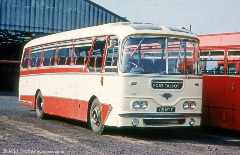 SWT 122 (121 NTX) was a former Thomas Bros. AEC Reliance/Harrington C41F.