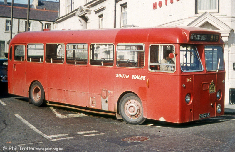 302 (SBO 242) was a Leyland PSUC1/Park Royal B45F new to Western Welsh.