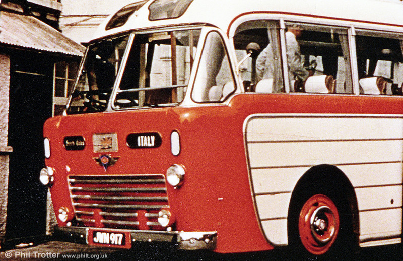 A rare colour shot of 1024 (JWN 917), the second of two AEC Regal IVs with Windover Kingsway C35R bodywork, delivered in 1954.