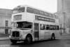 <DIV ALIGN=left>Unpainted AEC Regent V/Weymann H39/32F 530 (SWN 993) at Swansea Guildhall. In 1961 it was estimated that the cost saving was only about £300 per bus, spread over the 10-12 year life of the vehicle. By 1966 the buses were looking more than a little shabby and as overhauls became due, all thirteen silver Regents were consigned to the paint shop to receive a coat of red paint. The buses remained in the SWT fleet until 1970-71, after which some found further service with smaller operators, including Eynons of Trimsaran who used one of them on their Llanelli to Carmarthen service.</DIV>