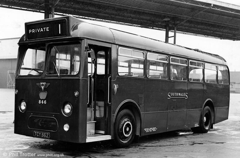 846 (TCY 662) was a 1962 AEC Reliance/Marshall B45F.