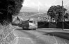 From a damaged negative, AEC Reliance/Park Royal B44F 808 (MCY 427) - later 1808 - climbing Townhill.