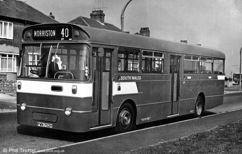 AEC Swift/Willowbrook B48D 702 (PWN 702H). These passed to London Country (SMW1-3) in 1971.